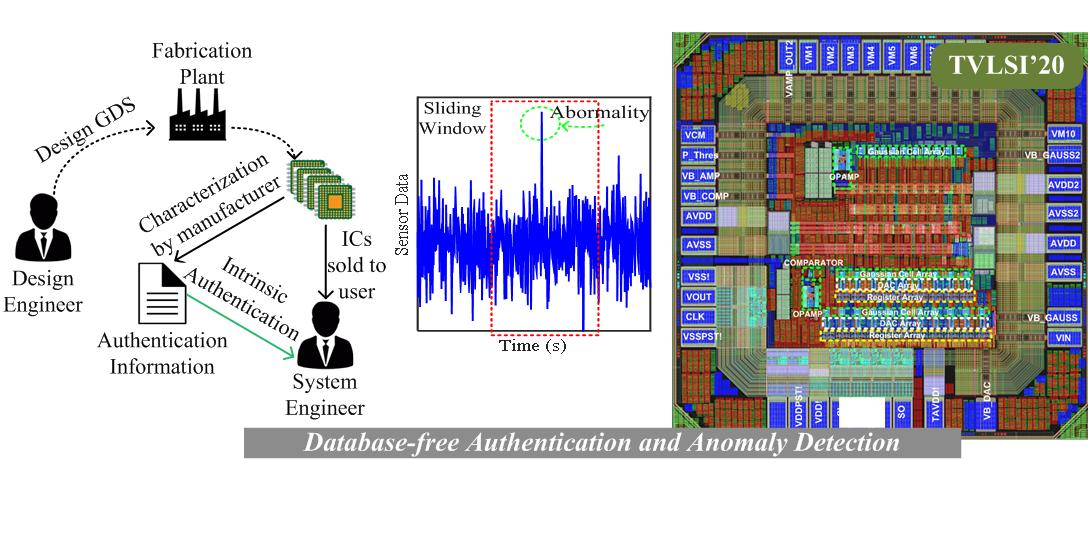 On-chip authentication and anomaly detection